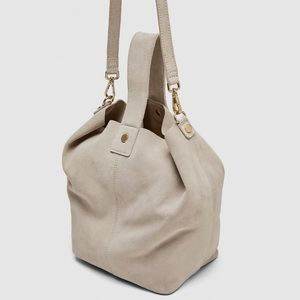 ⚡️SALE NWT Zara Leather Bucket Bag